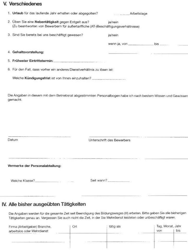 Personalfragebogen richtig ausfüllen - richtige Vorbereitung für das Vorstellungsgespräch10