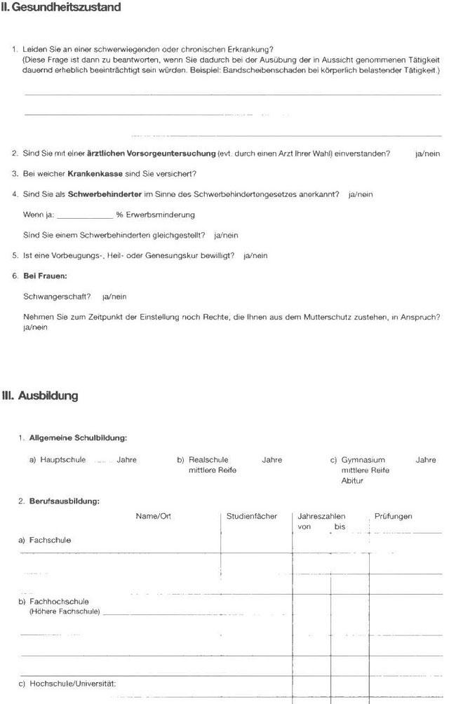 personalfragebogen richtig ausfllen richtige vorbereitung fr das vorstellungsgesprch8 - Personalfragebogen Muster
