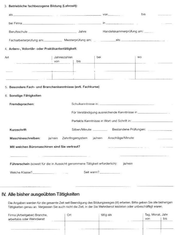 Personalfragebogen richtig ausfüllen - richtige Vorbereitung für das Vorstellungsgespräch9